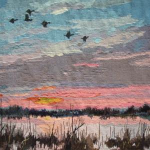 sunset with gees - pieter dik